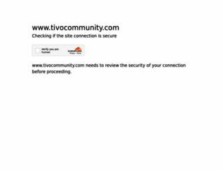 tivocommunity.com screenshot