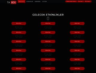 tixbox.com.tr screenshot