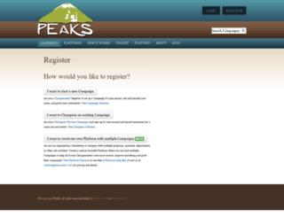 tiyanacoo.peaksmaker.com screenshot