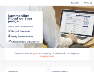 tjenestetorvet.dk screenshot