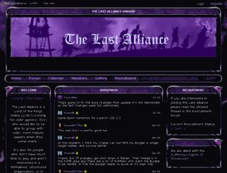 tla-lotro.enjin.com screenshot