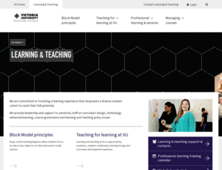 tls.vu.edu.au screenshot