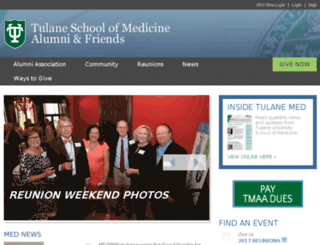 tmaa.tulane.edu screenshot