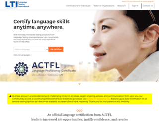 tms.languagetesting.com screenshot