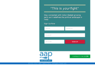 tn.aamaadmiparty.org screenshot