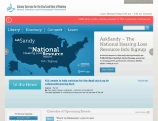 tndeaflibrary.nashville.gov screenshot