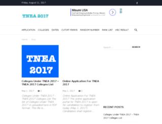 tnea2013.annauniversitycounselling.com screenshot