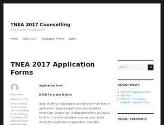 tnea2014.annauniversitycounselling.com screenshot