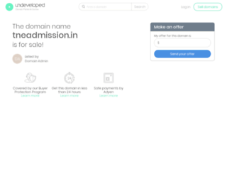 tneadmission.in screenshot