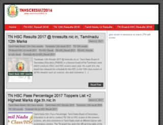 tnhscresult2016.in screenshot