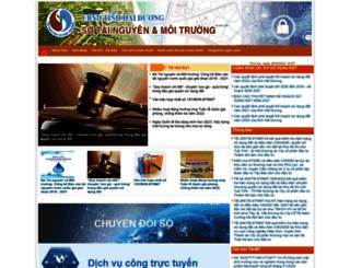 tnmt.haiduong.gov.vn screenshot