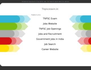 tnpscexam.in screenshot