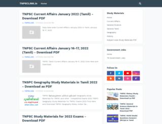 tnpsclink.in screenshot