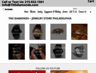 tnsdiamonds.com screenshot