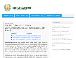 tnsslcresult2016.in screenshot