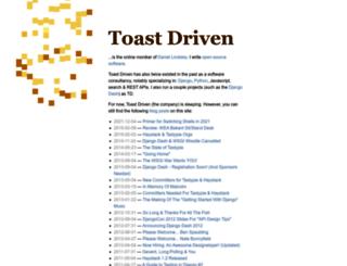 toastdriven.com screenshot