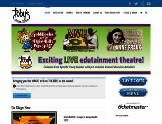 tobysdinnertheatre.com screenshot