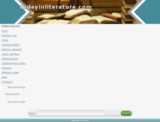 todayinliterature.com screenshot