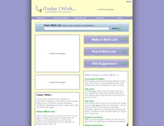 todayiwish.com screenshot