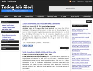 todayjobalert.com screenshot
