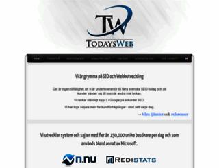 todaysweb.se screenshot