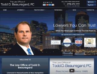 toddbeauregardlaw.com screenshot