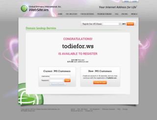 todiefor.ws screenshot