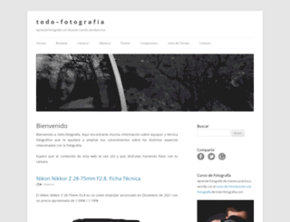 todo-fotografia.com screenshot