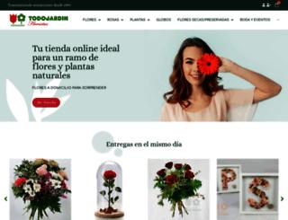 todojardinfloristas.com screenshot