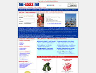 toe-socks.net screenshot