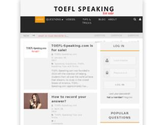 toefl-speaking.com screenshot