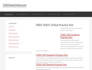 toefltestsonline.com screenshot