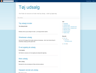 toej-udsalg.blogspot.com screenshot