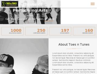 toesntunes.com screenshot