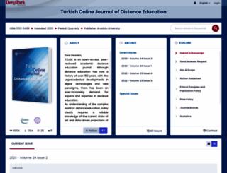 tojde.anadolu.edu.tr screenshot