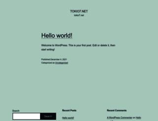 tokio7.net screenshot