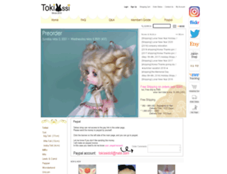 tokissidoll.com screenshot