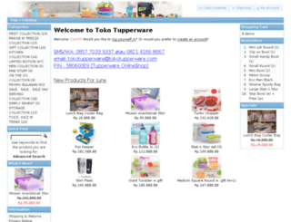 tokotupperware.com screenshot