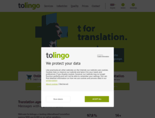 tolingo.eu screenshot