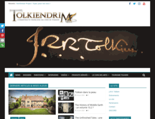 tolkiendrim.com screenshot