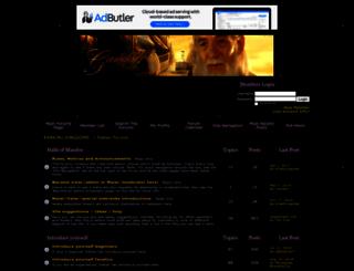 tolkienforums.activeboard.com screenshot