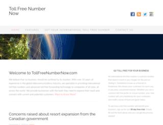 tollfreenumbernow.com screenshot