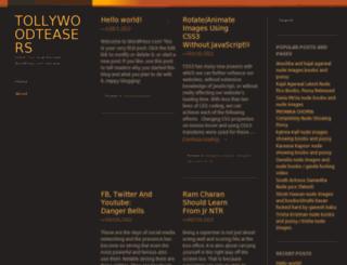 tollywoodteasers.wordpress.com screenshot