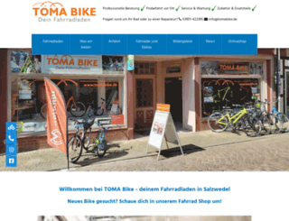 tomabike.de screenshot