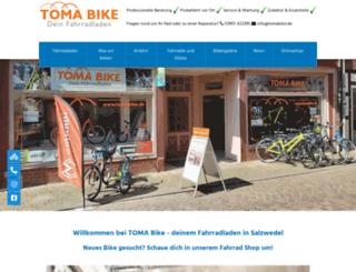 tomabike.de screenshot