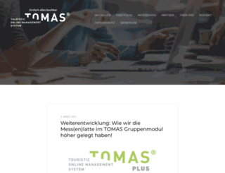 tomas.travel screenshot