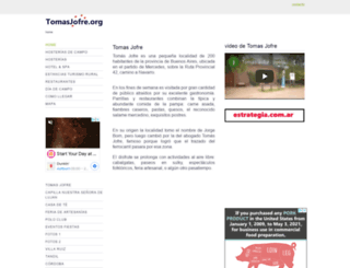 tomasjofre.org screenshot