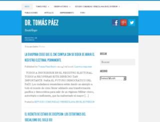 tomaspaez.com screenshot