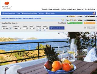tomatohotelskiathos.reserve-online.net screenshot
