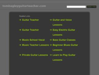 tombagleyguitarteacher.com screenshot